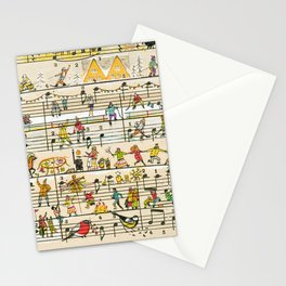 happy tunes Stationery Cards