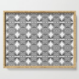 African ethnic geometric pattern 1 Serving Tray