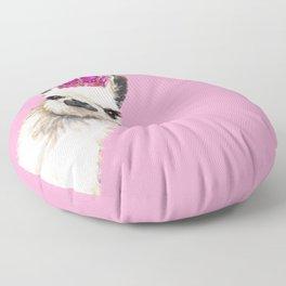 Llama Queen in Pink Floor Pillow