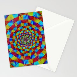 ZOOM #1 Vibrant Psychedelic Optical Illusion Stationery Cards