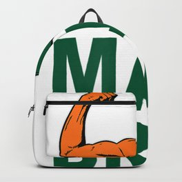 Miami Sports Fan Cool College Football Game Day Gifts Backpack