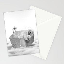 POLAR BEAR BATH Stationery Cards