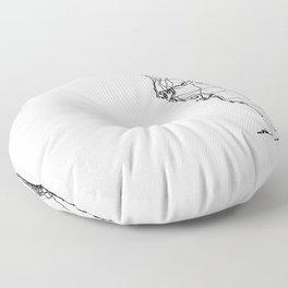 Florida White Map Floor Pillow