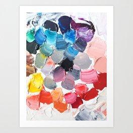 Rainbow Palette Art Print