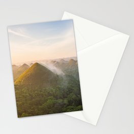 Panoramic landscape of the Chocolate Hills in Bohol | The Philippines travel photography Stationery Cards