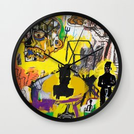 Collage Basquiat Wall Clock