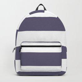 VA Mystical Purple - Metropolis Lilac - Dried Lilacs Hand Drawn Fat Horizontal Lines on White Backpack