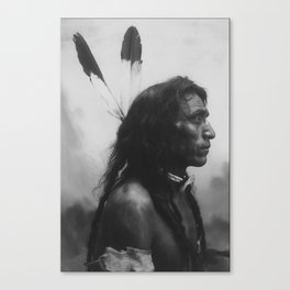 'He Shows His Blood', Cree; photo G. E. Fleming Canvas Print
