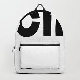 Ciao, Italian, minimal Art, Wall Decor, Typography, Home, Black and White, Minimalist Backpack
