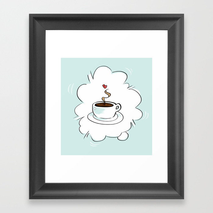 A Little Cuppa Joe Framed Art Print by Cardinalrose FRM803146