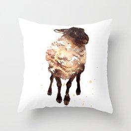 Silly Ewe Throw Pillow