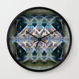 Abstract Multi-Colored Fractal (Night) Wall Clock
