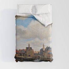 """Johannes Vermeer """"View of Delft"""" Comforters"""