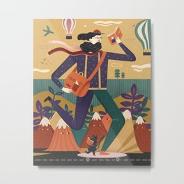Skater Metal Print
