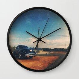 Roadside Classic - America As Vintage Album Art Wall Clock
