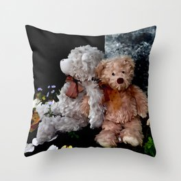 Teddy Bear Buddies Throw Pillow