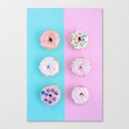 Sweet doughnuts Canvas Print