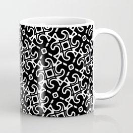 Black and White Decorative Tessellation Coffee Mug