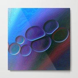 Purple Pebbles Metal Print