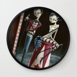 Raven & Ria, Ringmaster & Ringmistress Wall Clock