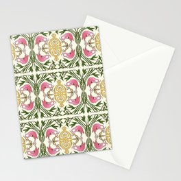 Flamingo Nouveau Stationery Cards