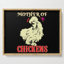 Chicken Woman Serving Tray