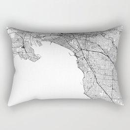 Melbourne White Map Rectangular Pillow
