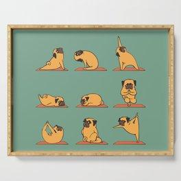 Pug Yoga Serving Tray