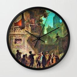 Spanish Serenity - Carl Spitzweg Wall Clock
