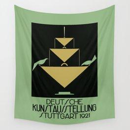 Stuttgart art expo: feed the birds Wall Tapestry
