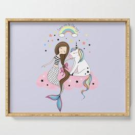 Mermaid & Unicorn Serving Tray