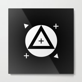 VFX Tracking Markers Metal Print