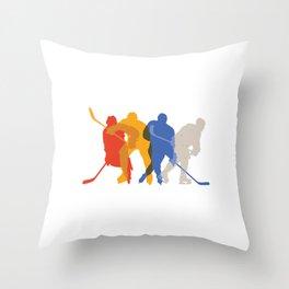 Eis Hockey Spieler Spiegel Ausrüstung Throw Pillow
