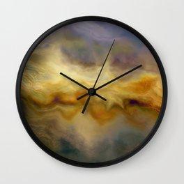 Golden Arrival: Emerging Hope Wall Clock