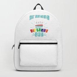 Bday Celebration Gift Grandpa Of The Birthday Boy Party Birth Anniversary Backpack