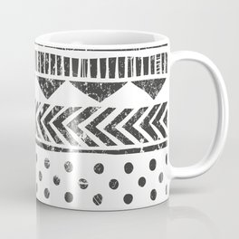 Mayan Pattern - Seamless tribal texture. Primitive geometric background in grunge style illustration Coffee Mug