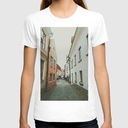 Cobblestone Street In Visby T-shirt