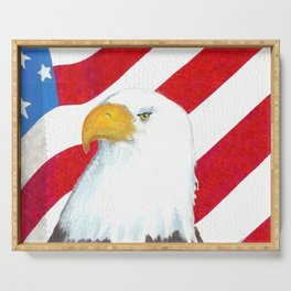 Eagle And Flag Serving Tray