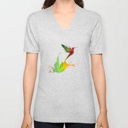 Colors Humming Bird (black bg) Unisex V-Neck