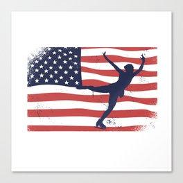 ICE SKATING USA Canvas Print