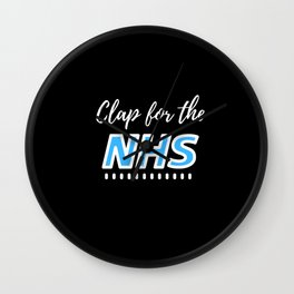 Clap For The NHS Wall Clock