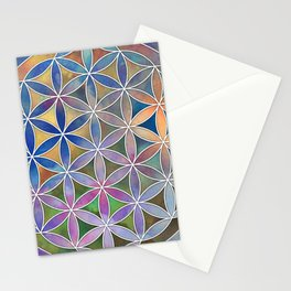 The Flower of Life in the Sky Stationery Cards