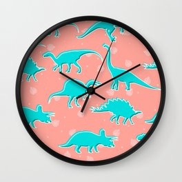 Dino Alley Wall Clock