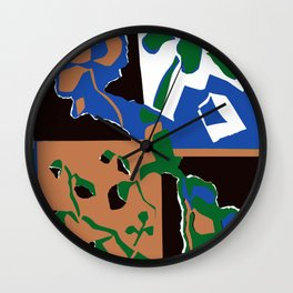 Mirrored House Plant  Wall Clock