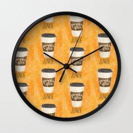 Pumpkin Spice Junkie Wall Clock