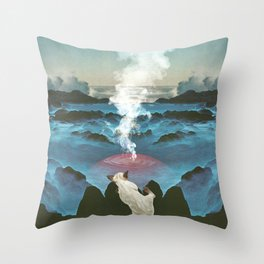Crash Site Throw Pillow