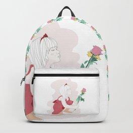 Little girl loves flowers Backpack