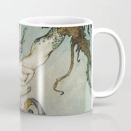 The Little Mermaid, Vintage Art Nouveau Illustration Coffee Mug