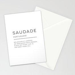 Saudade Definition Stationery Cards