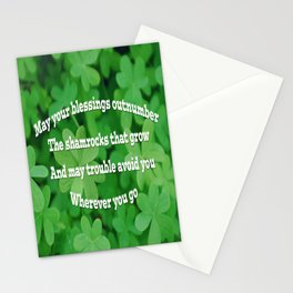Irish Blessing Stationery Cards